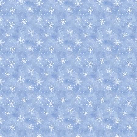 Snow What Fun Blue Snowflakes
