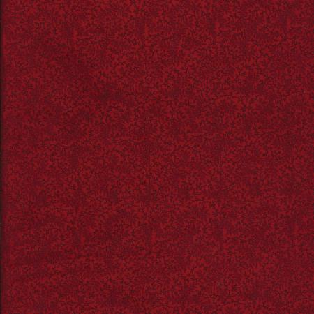 Antique Red Floral Vine 108in Quilt Back