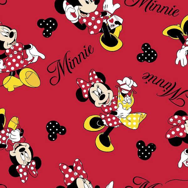 Disney Minnie Love Shopping Flannel
