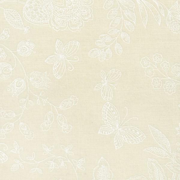 White/Tint Floral Butterfies 108  Wide