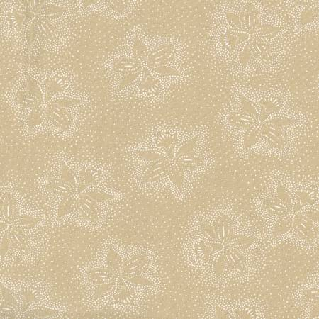 White/Teastain Dotted Floral 108in Wide