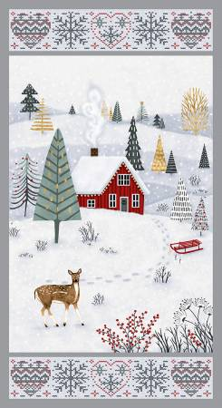 Snowy Magic -Frost Snowy Magic 24in Panel