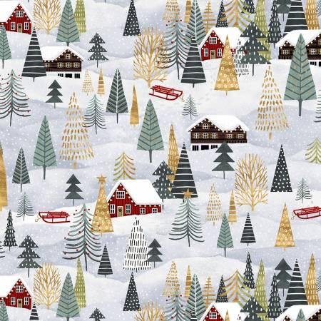 Snowy Magic -Frost Landscape-Modern