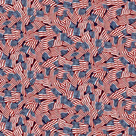 Patriotic Tossed Flags