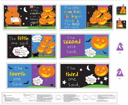 5 Little Pumpkins Halloween Book Panel