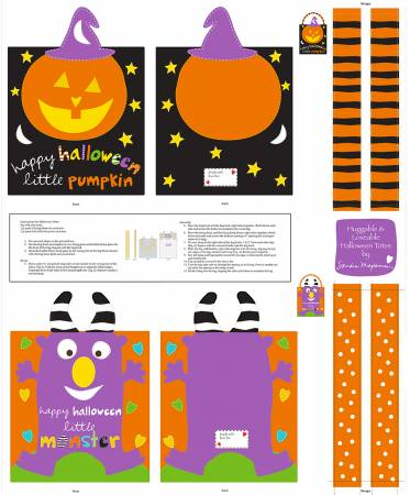 Huggable and Loveable Trick or Treat Bags Panel