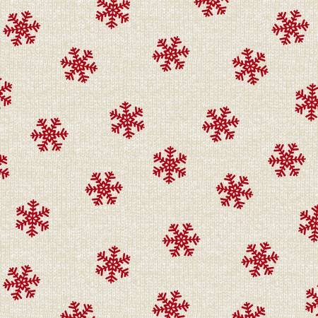 Studio E Holiday Road Trip Beige Snowflakes