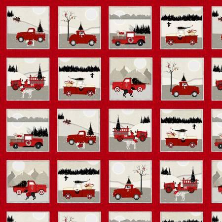 Red Small Blocks w/Cars & Trucks