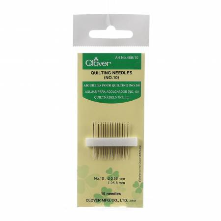 Clover Between / Quilting Needles Size 10 15ct