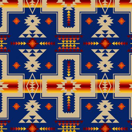 Tucson Royal Motif 100% Cotton 42-44 Wide
