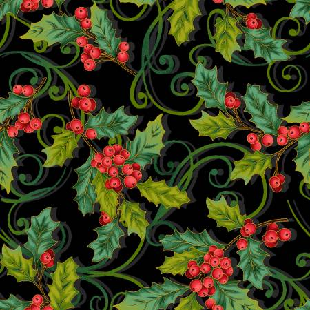 MT - Studio E - Christmas Joy - Black Holly