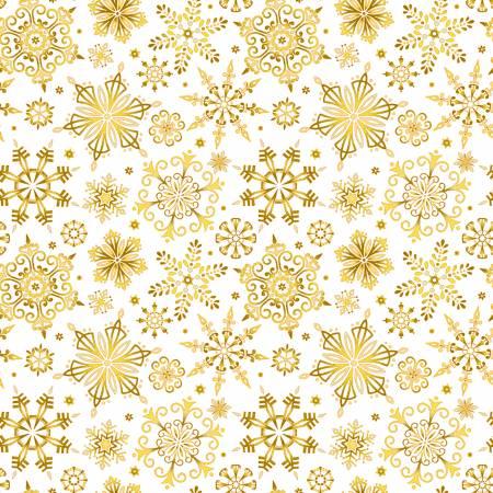 MT - Studio E - Christmas Joy - Cream/Gold Snowflakes