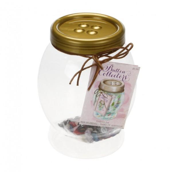 Collector Button Starter Kit Large Jar