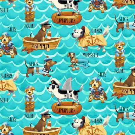 Blue Wavy Dogs