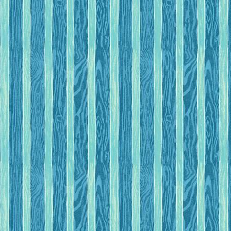 Aqua Shiplap Texture Stripe