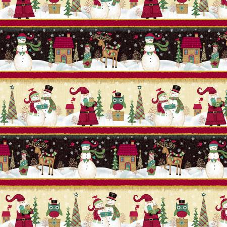 Studio E Holly Jolly Christmas 4751-98 Multi Scenic