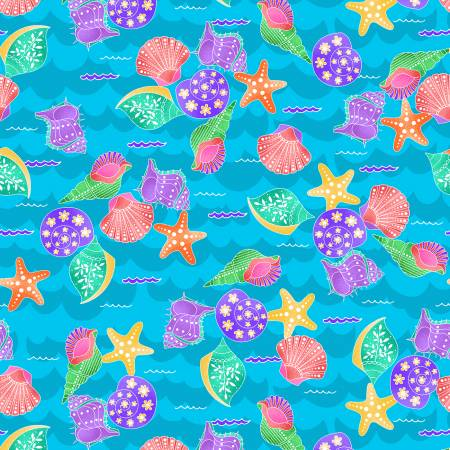 Mermaids Rock - Turquoise Shells - by Art Loft for Studio E