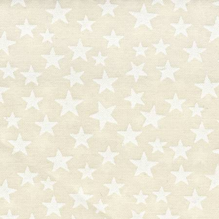 White Stars on Cream