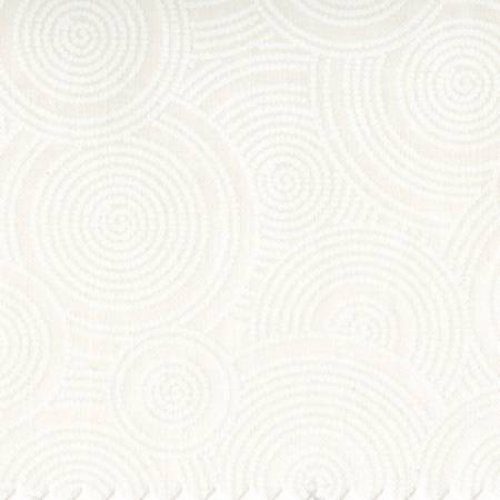White/White Tone on Tone Dotted Circles 108in Wide Back
