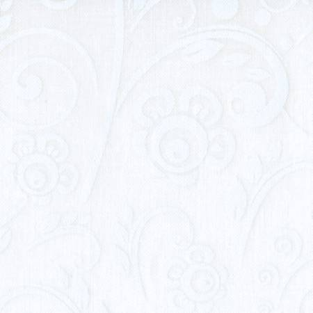 108in White on White Scroll