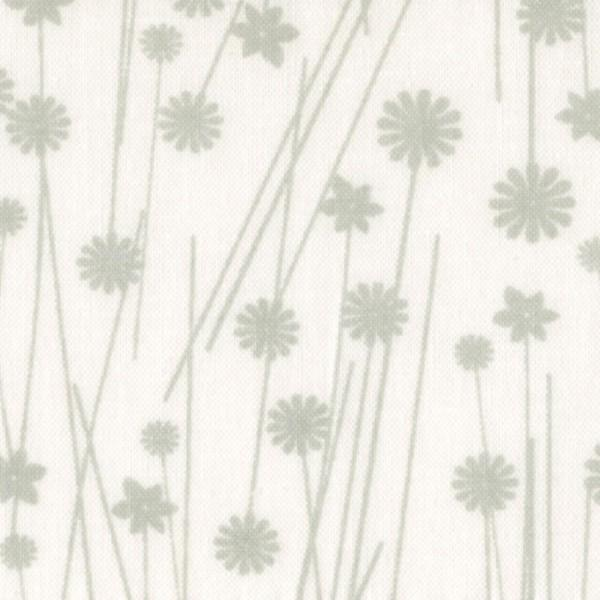Grey/White Tone on Tone Floral 45in Wide Back