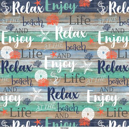 Multi Beach Words on Shiplap