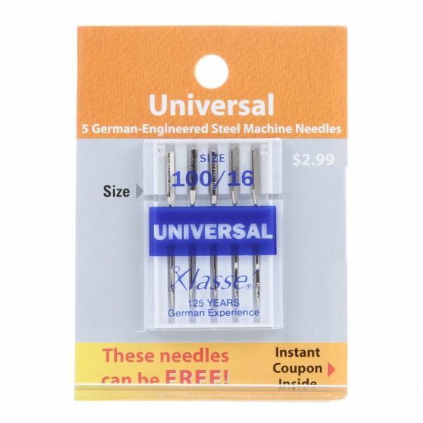Klasse Universal Machine Needle - Size 100/16 5ct
