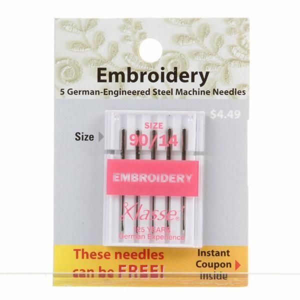 Klasse Needles Embriodery 90/14
