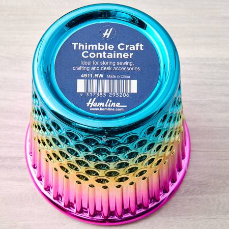 Rainbow Thimble Craft Container Plastic