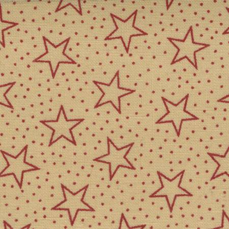 Red/Antique Patriotic Stars 108in Wide Back
