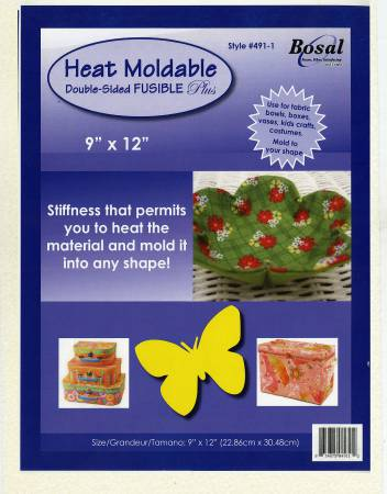 Heat Moldable Double Sided Fusible Plus Stabilizer 9in x 12in