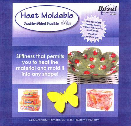 Bosal Heat Moldable Double Sided Fusible Plus Stabilizer 20in x 36in