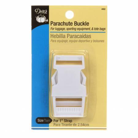 Dritz 1 Parachute Plastic Buckle - White