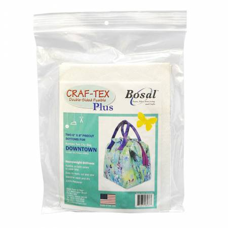493-DOW Downtown Bag 6in x 8in Precut Fusible Bottoms 2pk
