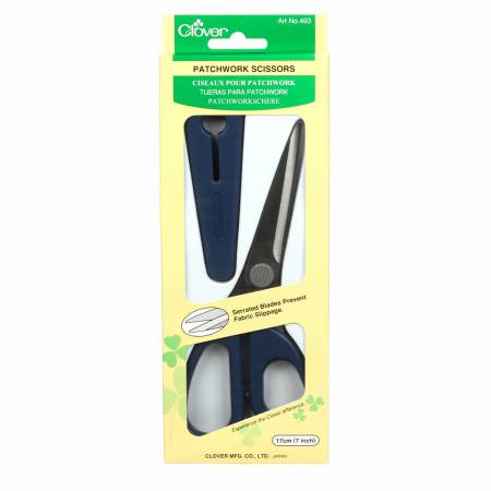 Clover Serrated Patchwork Scissor 7in