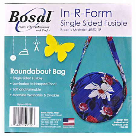 In R Form Single Sided Fusible for the Roundabout Bag