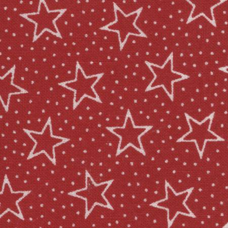 Red/White Patriotic Stars 108in Wide Back