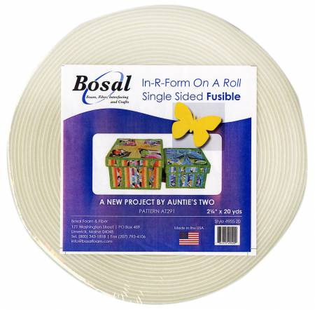 In-R-Form Single Sided Fusible Foam Stabilizer Off White 2-1/4in x 20yds