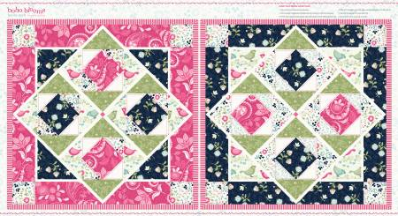 BOHO BLOOMS DOLL QUILT PANEL