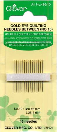 Gold Eye Between / Quilting Needles Size 10 15ct