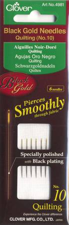 Black Gold Quilting Needle Size 10 6ct