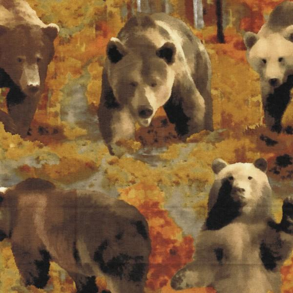 The Great North Wilderness - Brown Bear Autumn Flannel 4982F 88