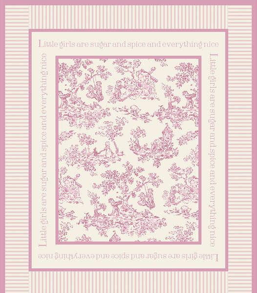 Pink Toile Panel