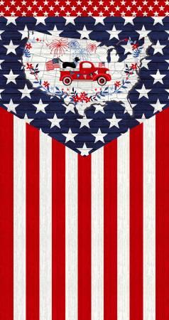 Truckin' in the USA-Multi Flag Panel 24in