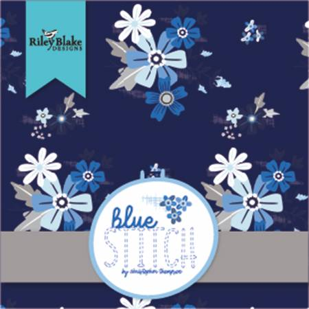 Blue Stitch - 5 Squares