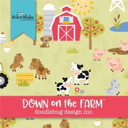 Down On The Farm 5in Squares, 42pcs, 3 bundles/pack