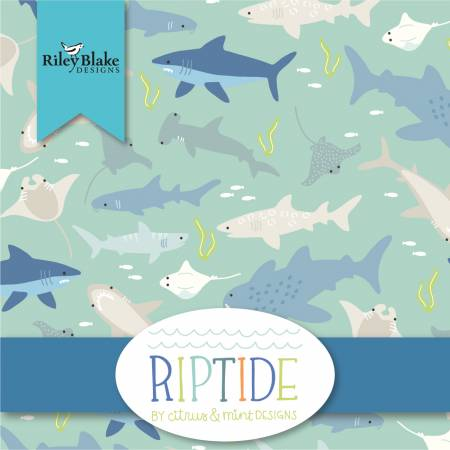 Riptide 5in Squares by Riley Blake (42 pieces)  5-10300-42