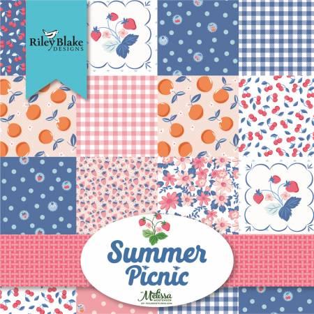 Summer Picnic 5in Squares, 42pcs/bundle