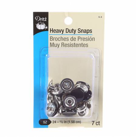 Dritz - Heavy Duty Snaps - 7 count - Black