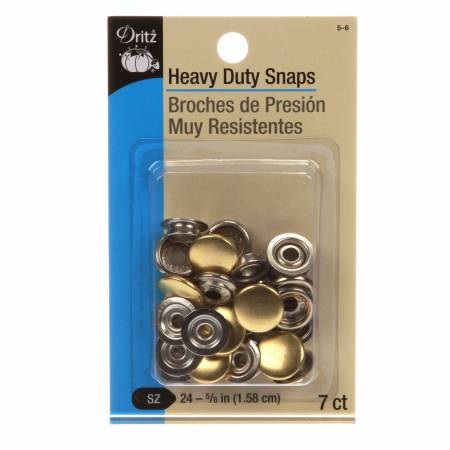 Heavy Duty Snaps 7ct Polished Brass